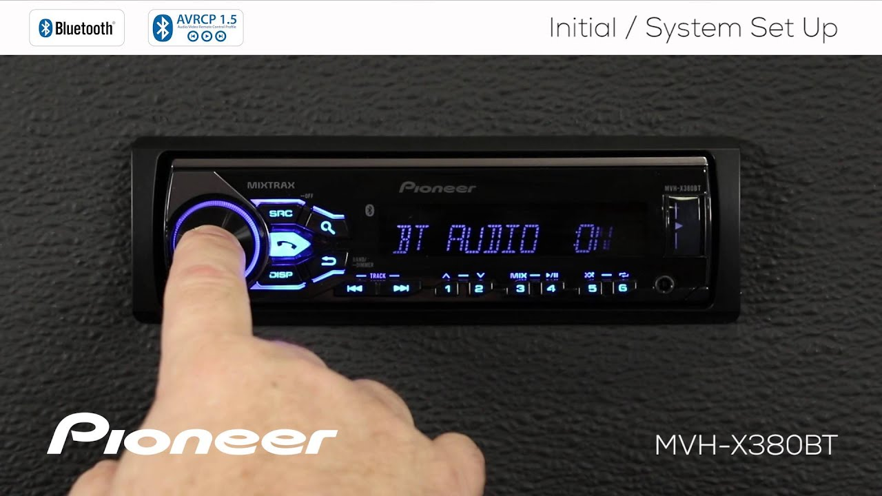 How To - MVH-X380BT - Initial and System Set Up - YouTube Wiring Diagram For A Pioneer Mvh X Bt on
