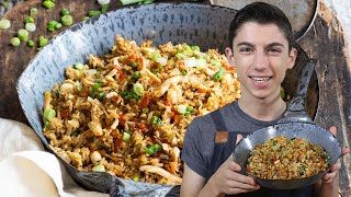 Thanksgiving Leftover Turkey Fried Rice | Eitan Bernath