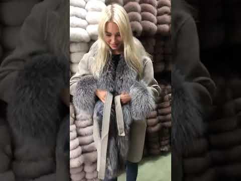 Кашемировое пальто с мехом по  Оптовым ценам ниже средне рыночных #8