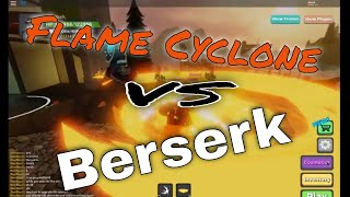 Flame Cyclone vs Berserk in Dungeon Quest Roblox