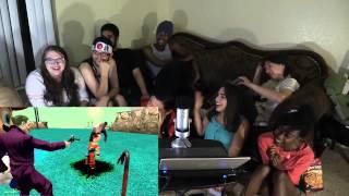 Repeat youtube video Gmod Dragon Ball Z Parody Puppet Show  VanossGaming REACTION  React DangIT 2