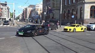 LIONS RUN Supercars Leaving Amsterdam - 2x Ferrari F12 Novitec N-Largo, Performantes, 812 etc!