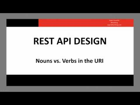 REST API Design - Nouns vs  Verbs