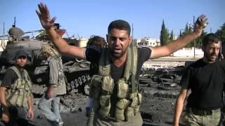 ضباط الجيش الحر وأولى لحظات تحرير اعزاز 19 7 2012