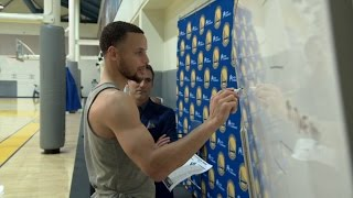 Steph Curry Picks DUKE to Win in His 2017 NCAA March Madness Tournament Bracket