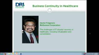 DRI Webinar Series: The State of Healthcare and BCM and a New Certification