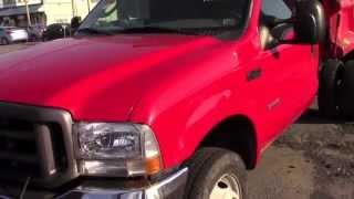 2004 Ford F-450 Diesel Superduty Dually Dump Truck with plow!