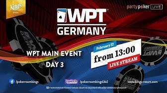 WPT GERMANY Main Event - Day 3