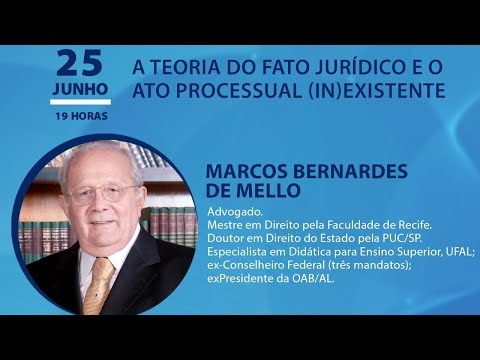 AULA MAGNA - A teoria do fato Jurídico e o Ato Processual (IN)Existente, Marcos Bernardes de Mello