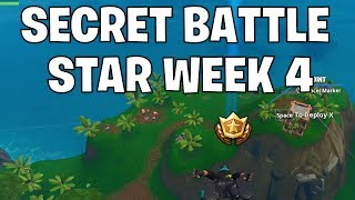 Secret battle star week 4 - Fortnite saison 10