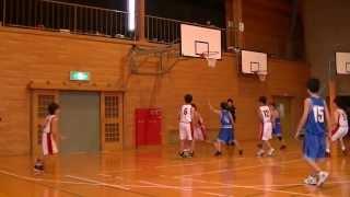 2013 福山市中学バスケ新人戦 一回戦  対 駅家中 2