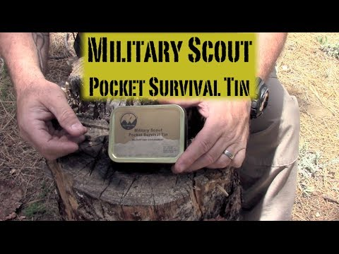 NEW! Best Tactical / Military Survival Kit? - Military Scout Pocket Survival Tin