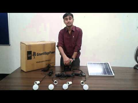 10 W Solar Home Lighting Kit Installation Guide