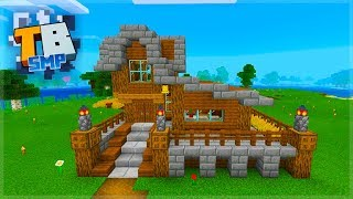 I BUILT A HOUSE IN MINECRAFT TRULY BEDROCK REALMS SMP