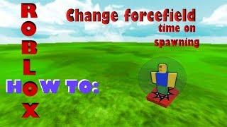 Roblox Studio how to change ff - Forcefield time on spawns