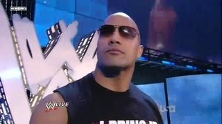 The Rock Returns 2011 With His 1998 Theme (Nation Theme)