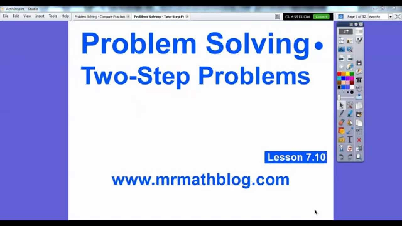 Problem Solving - Two-Step Problems - Lesson 7.10 - YouTube