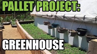 UPCYCLE THIS pallet hoop house GREEN HOUSE BUILT FROM PALLETS reclaimed lumber project H gelkultur