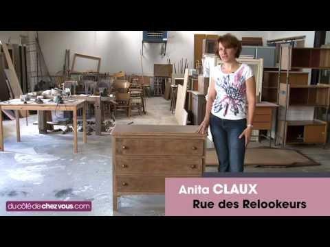Une commode transform e en meuble t l youtube - Comment faire du ceruse sur un meuble ...