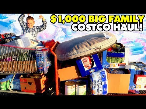 🍓🍏$1,000 HUGE LARGE FAMILY COSTCO GROCERY HAUL 🍌🍞