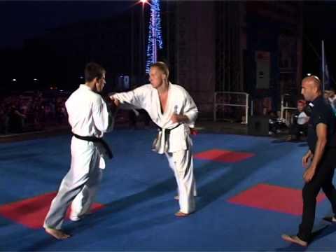 Благотворительный марафон боевых искусств Киокушин Профи Никита Бубьяков vs Владимир Попов