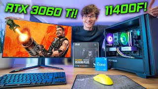 The KING Of Gaming PC Builds in 2021! RTX 3060 Ti \u0026 i5 11400f w/ Gameplay Benchmarks