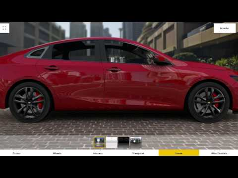 Chevrolet Malibu Configurator with Blend4Web