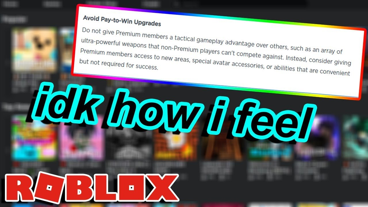 This New Roblox Update Might Make Roblox Games Pay To Win Youtube