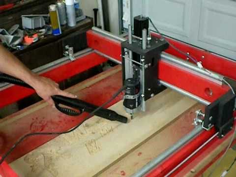 Home built 3 axis cnc router youtube for Home built router