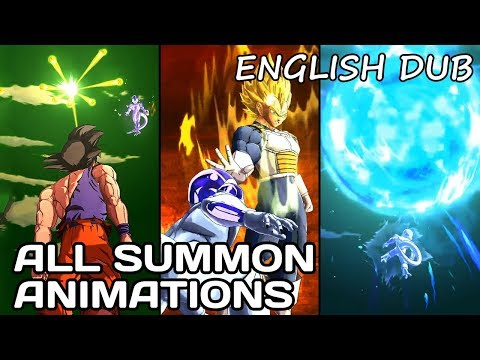 All Summon Animations English Dub - Dragon Ball Legends