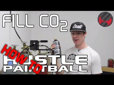 How to fill a paintball CO2 tank from a bulk tank (20lb