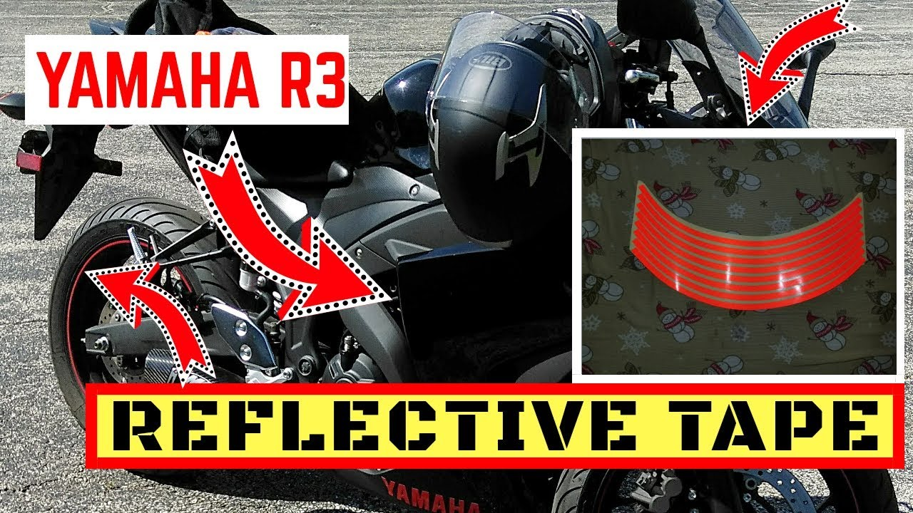 Yamaha r3 reflective tape for motorcycle wheels rim lining sticker