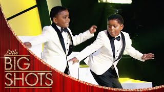 INCREDIBLE Twin's Tap Dance | Little Big Shots