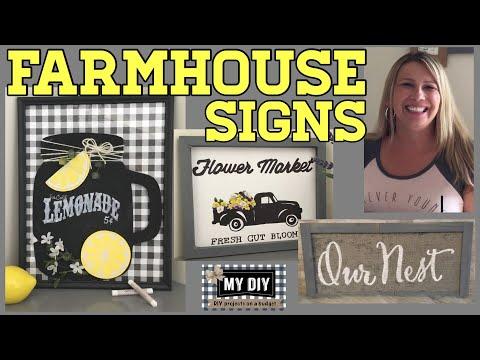 Custom Farmhouse Signs |  Homemade wall decor | Dollar Tree items!