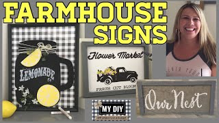 Custom Farmhouse Signs |  Homemade wall decor | Dollar Tree items!