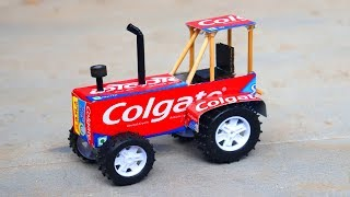 How to Make a Colgate Tractor at Home | DIY Electric Toy Tractor