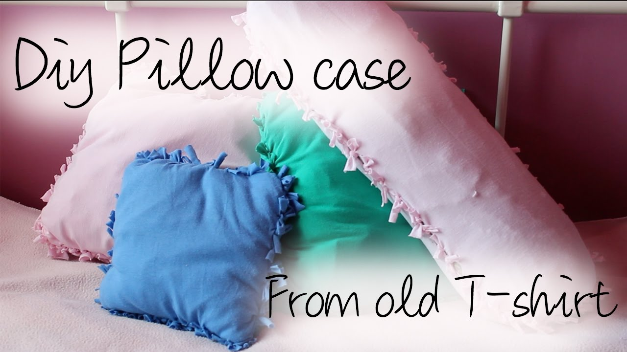 How to make a pillow out of a tee shirt