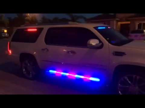 HG2 Emergency Lighting Cadillac Escalade With Full HG2 Emergency Lighting P