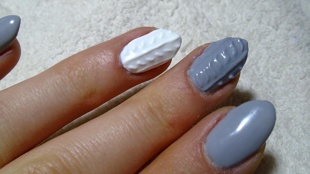 Sweterek Na Paznokciach Knit Nails Tutorial Zdobienie Manicure