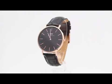 a1be2a9f1f23 Daniel Wellington Classic Black Reading Rose Gold 40mm - Watchia.com ...
