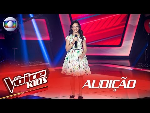 Mariana de Medeiros canta 'Eu só queria te amar' na Audição – The Voice Kids Brasil | 2ª Temporada