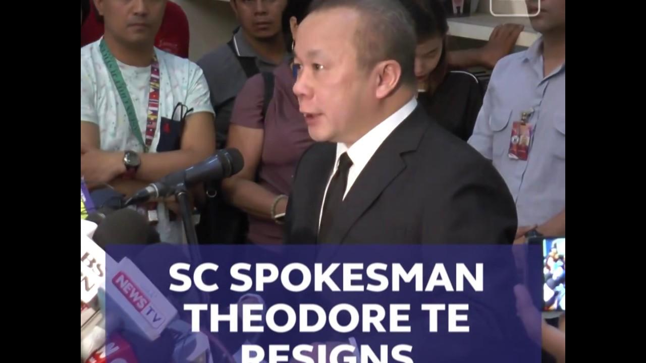 SC spokesman Theodore Te resigns