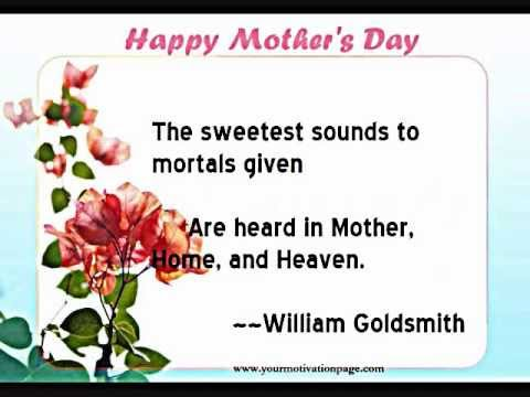 Happy Mother's Day Quotes - YouTube
