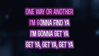 One Way or Another (Teenage Kicks) (Karaoke Version) - One Direction
