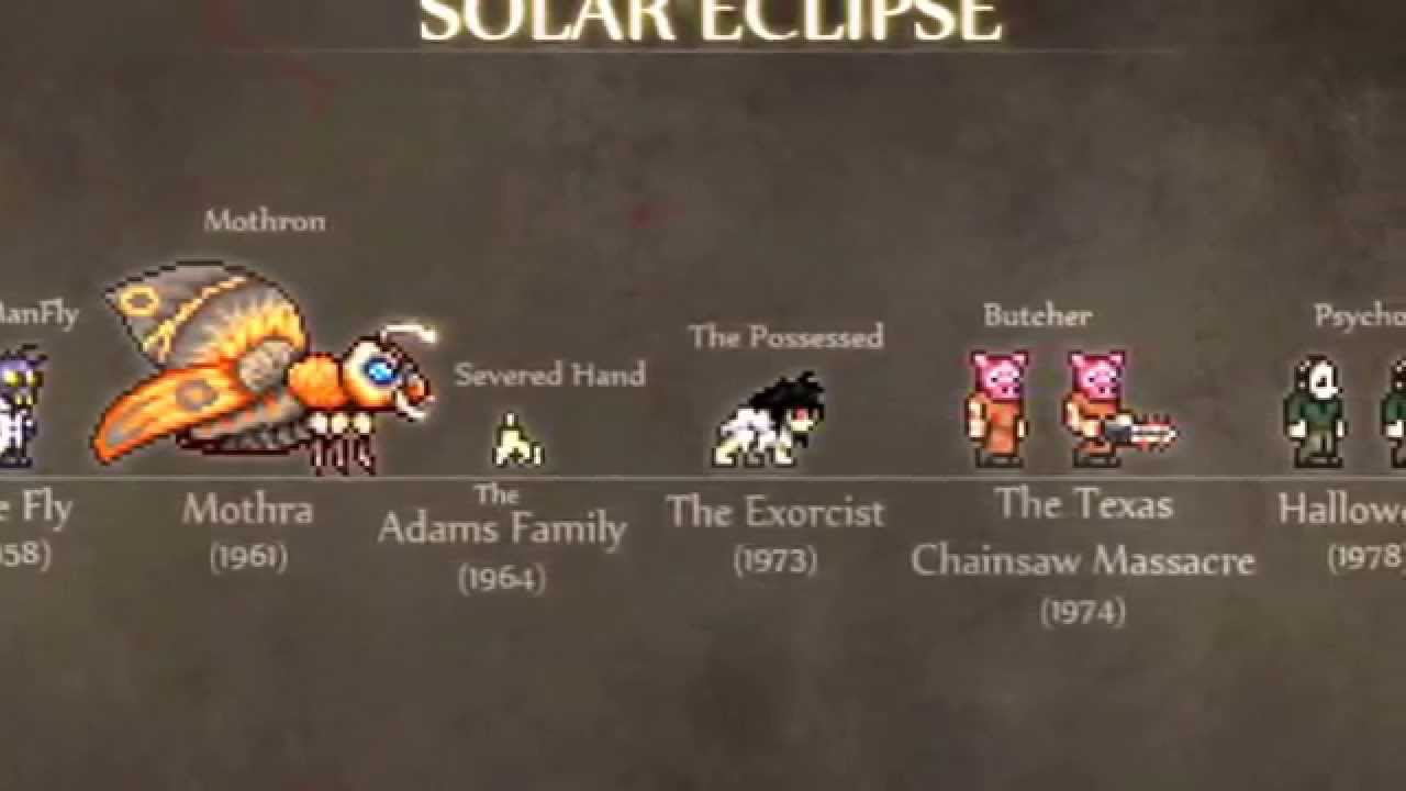 Solar Solar Eclipse Terraria This is a list of fictional stories in which solar eclipses feature as an important plot element. solar solar eclipse terraria