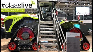 #claaslive | CLAAS XERION 5000 TRAC TS at the Agritechnica 2019.