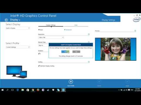 How to Change your Intel HD Graphics Resolution : DeviceTutorials