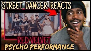 Gambar cover STREET DANCER REACTS TO Red Velvet 레드벨벳 'Psycho' Performance Video | RED VELVET PSYCHO PERFORMANCE