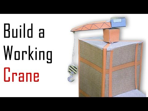 How to Build a Model Motorised Crane for the Layout