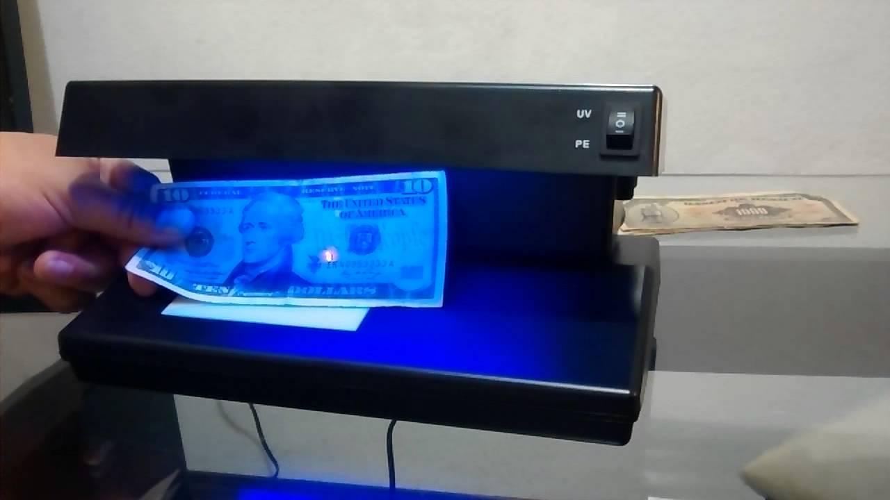 Detector de billetes falsos  YouTube